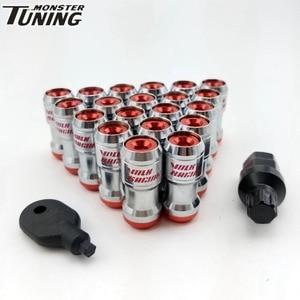 Tuning Monster 20PCSVolk Racing Concealed Heptagon Formula Steel Wheels Lock Lug Nuts M12X1.5/M12x1.25 20PCS Acorn Rim Close End