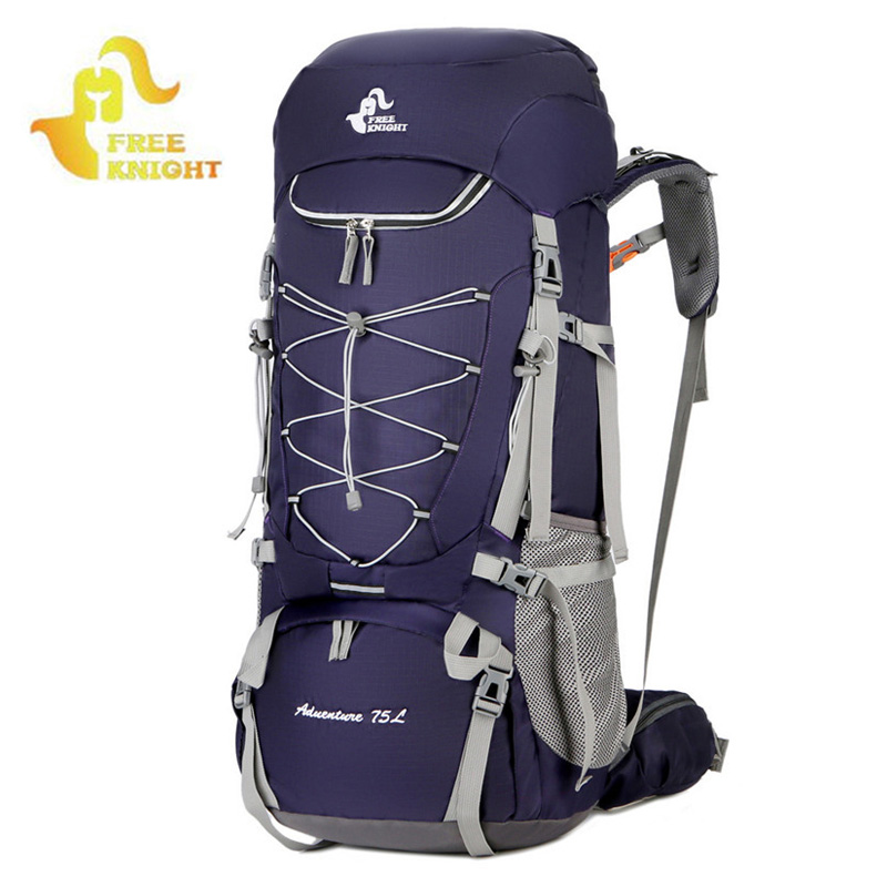 75L Camping Backpacks Hiking Rucksack Sport Bag With Rain Cover Travel Climbing Mountaineering Trekking Mochila Outdoor