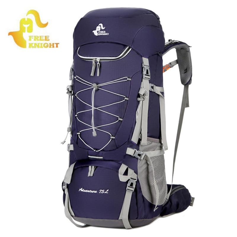 75l mochilas de acampamento caminhadas saco esporte com capa chuva viagem escalada montanhismo caminhadas xa726wa ao