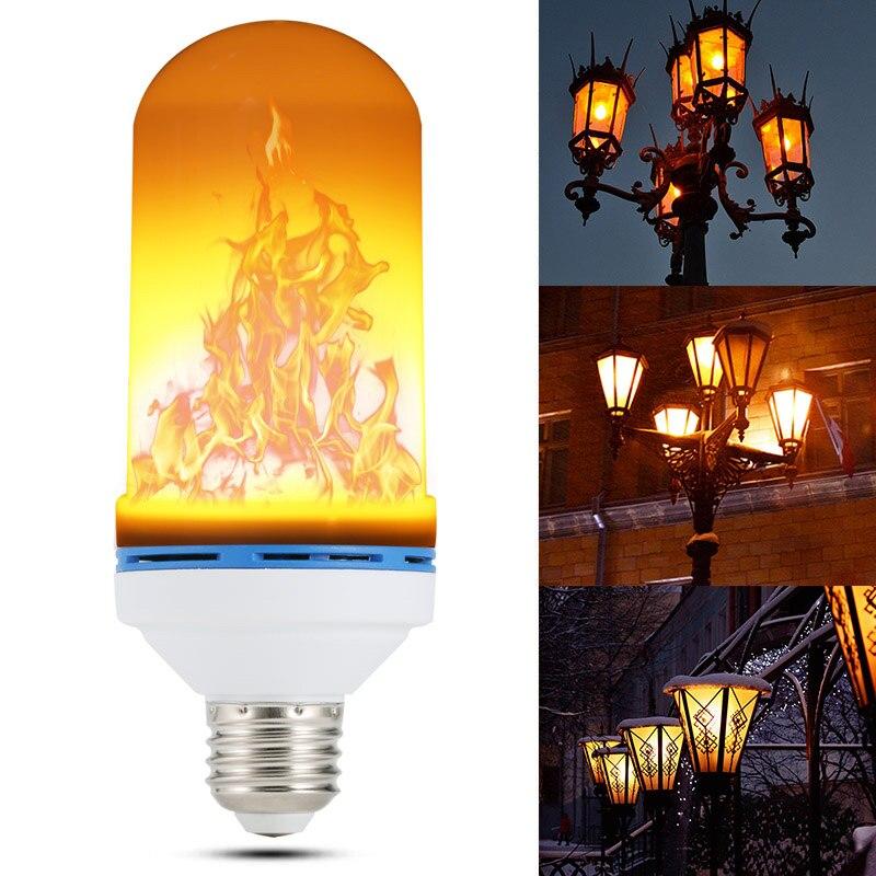 E26/E27 LED Flame Effect Fire Light Bulb Flickering Flame Lamp Simulated Party Christmas Decor  AC85-265V --M25