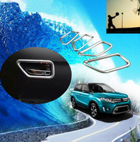 For Suzuki Vitara Inner Door Frame Abs Chrome Inner Handle Bowl Car Styling Stickers Sequins For