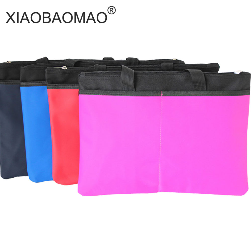 XIAOBAOMAO A4 Commercial Business Document Bag Tote File Folder Filing Meeting Bags Pocket Office Bags Pocket Large Capacity