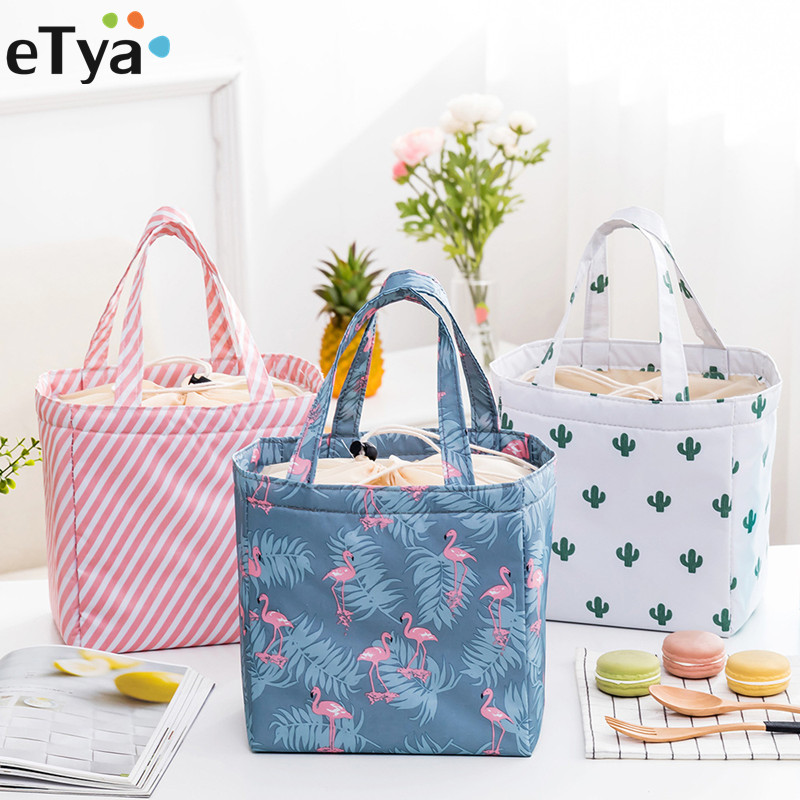 eTya Thermal Insulated Lunch Food Box Bag For Women Ladies Student Kid Men Picnic Food Cooler Box Tote Storage Bags mimi tang kid s food allergies for dummies