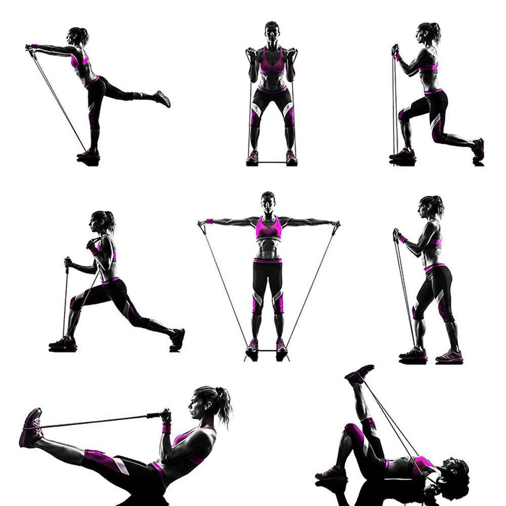 120cm odporność na zespół ćwiczenia elastyczna opaska joga Pilates Expande ciągnąć liny rury do terapii fizycznej treningu siłowego mięśni