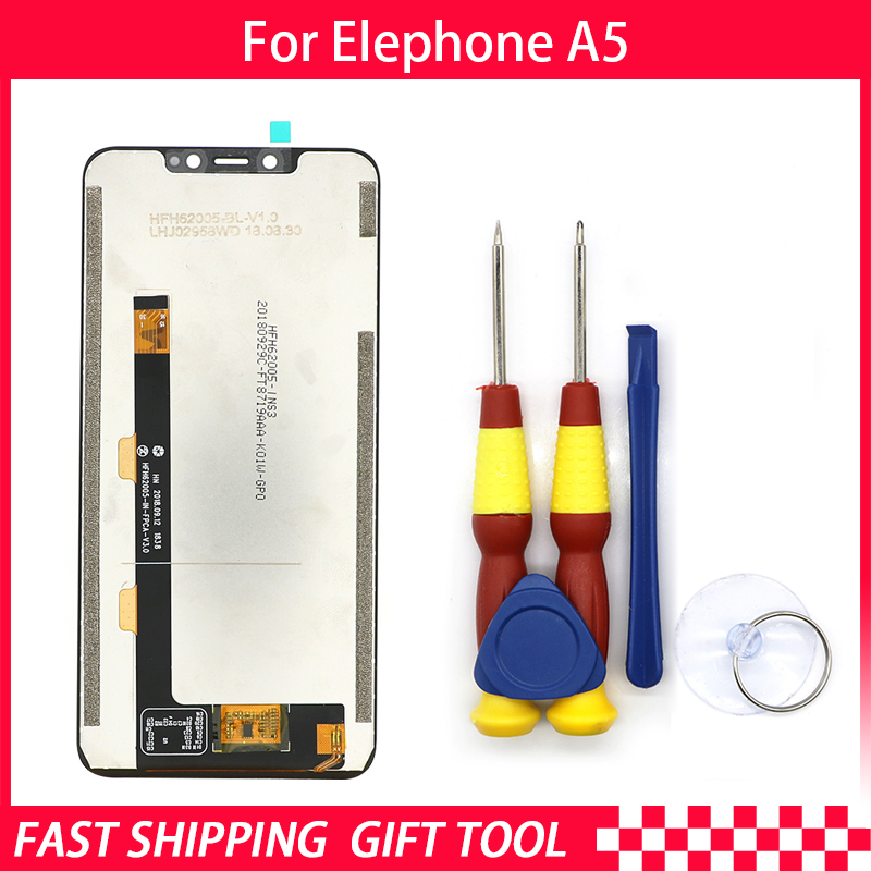 New original Touch Screen LCD Display LCD Screen For Elephone A5 Replacement Parts + Disassemble Tool+3M AdhesiveNew original Touch Screen LCD Display LCD Screen For Elephone A5 Replacement Parts + Disassemble Tool+3M Adhesive