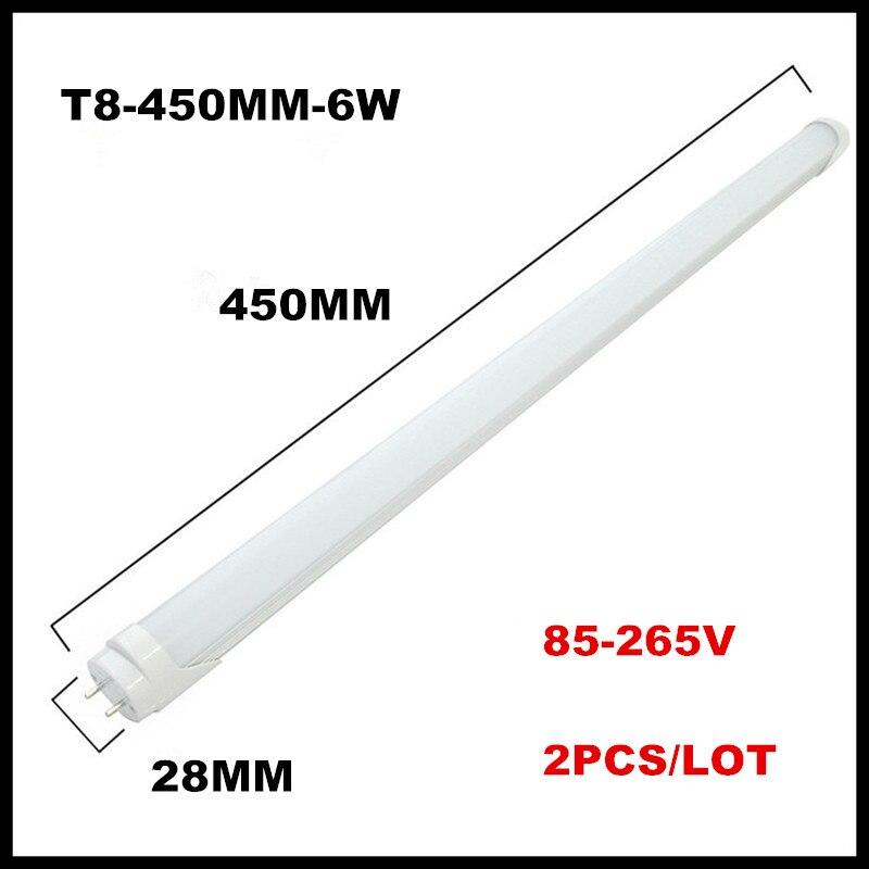 2PCS/lot LED Tube Light T8 1ft 0.3m 300mm 4W 1.5ft 0.45m 450mm 6W AC85V-265V LED Lamp Light 2835SMD Lights & Lighting картридж cactus cs c040hy для canon lbp 710cx i sensys 712cx i sensys желтый 10000стр