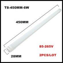 2PCS/lot LED Tube Light T8 1ft 0.3m 300mm 4W 1.5ft 0.45m 450mm 6W AC85V-265V LED Lamp Light 2835SMD Lights & Lighting
