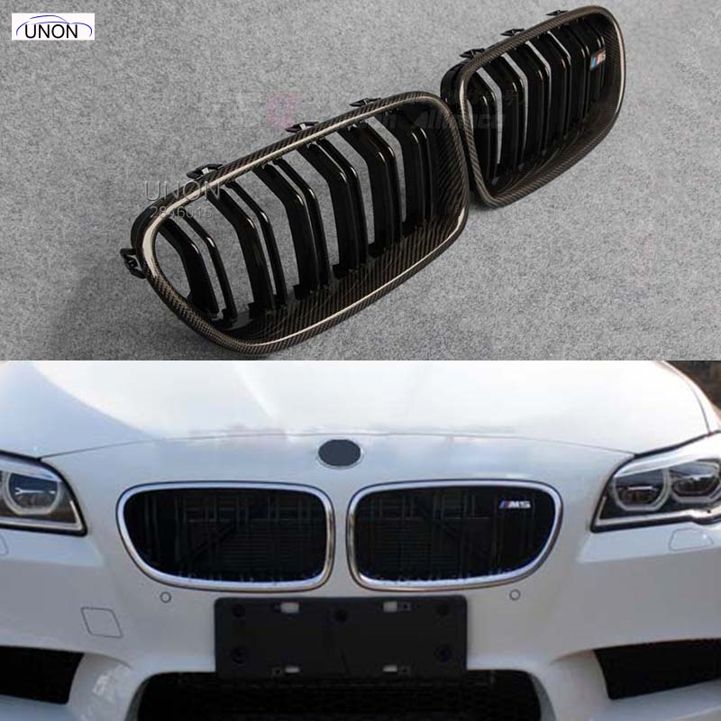 5 Series F10 Glossy Black Dual Slat M5 Style Front Kidney Grille Grill For BMW F10 520i 523i 525i 530i 535i 2010+ led drl daytime running light daylight waterproof fog head lamp for bmw f10 f18 5 series 525i 530i 535i 2010 2013 car styling
