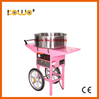 stainless steel electric cotton candy floss machine with cart ce RoH commercial 110V 220V 1080w sweet sugar cotton candy maker