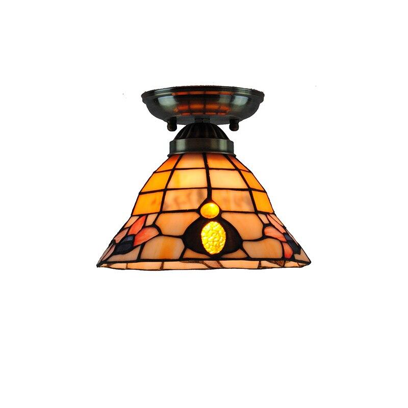 7 Inch Classic Flower Pattern Ceiling Lamp E26/E27 Bulb Retro Tiffany Flush Mount Light Hallway Restaurant Bar Lighting CL277
