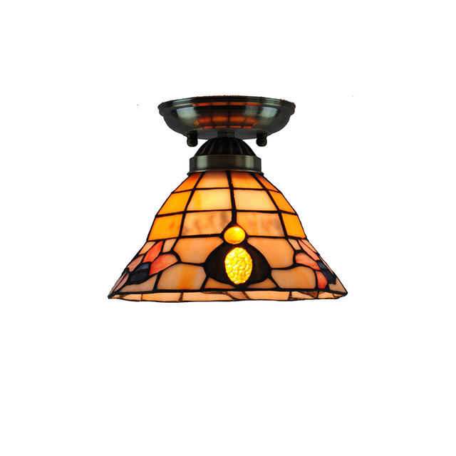 7 inch classic flower pattern ceiling lamp e26e27 bulb retro 7 inch classic flower pattern ceiling lamp e26e27 bulb retro tiffany flush mount light aloadofball Gallery