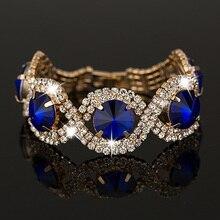 YFJEWE Luxury Fashion Bracelets & Bangles wholesale Rhinestone best sell Bracelets Bangles for women #B002