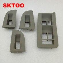цена на 4PCS For Audi A4 A6 C5 lifter switch frame decorative frame mask frame (gray)