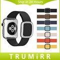 Pulseira de couro genuíno para apple watch edição esporte iwatch 38mm 42mm moderno banda fivela de fecho magnético pulseira pulseira 7 cores