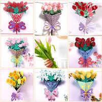 Tarjetas de Felicitación del Día de las madres postal 3D POP UP flor gracias mamá feliz cumpleaños invitación regalos personalizados papel de boda