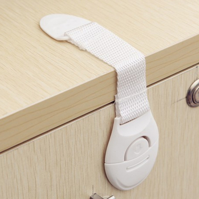 2019 Cabinet Lock Straps 4Pcs/Lot Cabinet Lock Child Safety Protection Security Drawer Latches Protection Baby Safety Lock