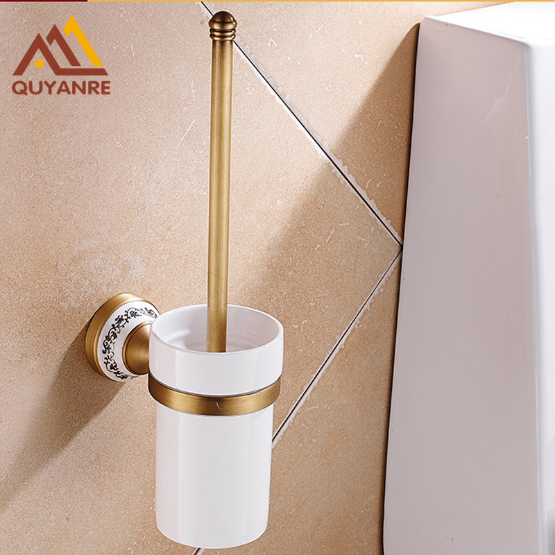 Free Shipping Retro Style Toilet Brush Holders Bathroom Accessories Antique Brass Holder Wall Mounted бордюр blau versalles mold michelle 3 5x25