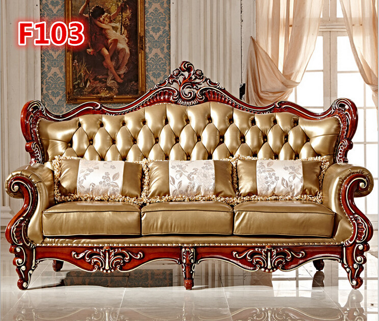 Sofas Chairs: High Quality Hand Carved Sofa Set F103-in Living Room