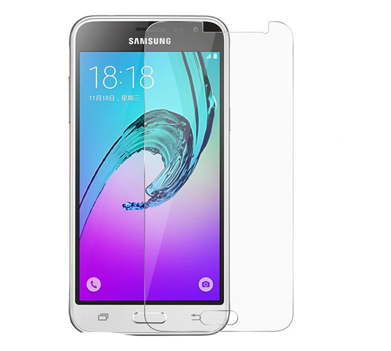 Galleria fotografica Wolfsay 2PCS Glass For Samsung Galaxy J3 Screen Protector Tempered Glass For Samsung Galaxy J3 2016 Glass Phone Film Samsung J3