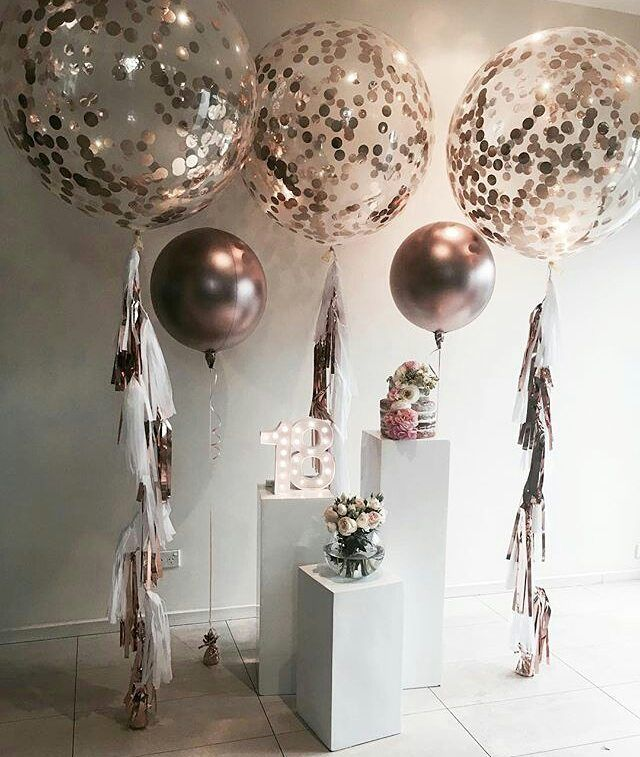 18 Inches transparent Bubble Balloons With Golden