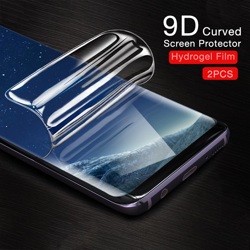 Liquid Hydrogel Film For Samsung Galaxy S9 Curved Screen Protector Full Screen Glued Film For Galaxy S7 S8 S9 S10 Plus Note 8 9