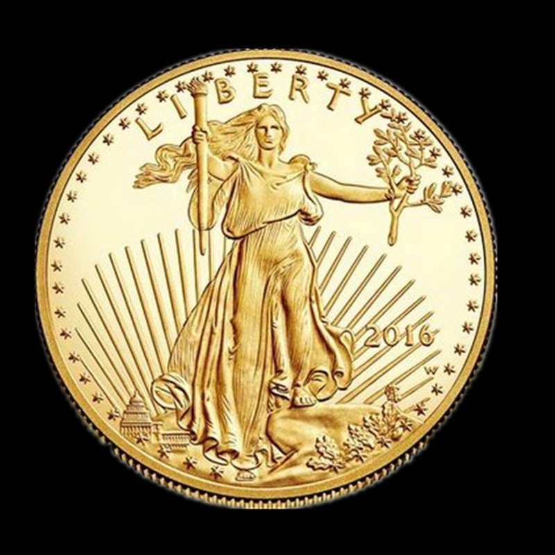 Non Magnetic The Freedom Eagle 2016 24k Gold Plated American Liberty Souvenir Replica Coin 32 6
