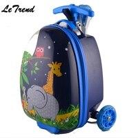 Милый ребенок сумки на колёсиках колеса стула чемодан для детей тележка Студент Путешествия Duffle милый мультфильм Carry On школьная сумка