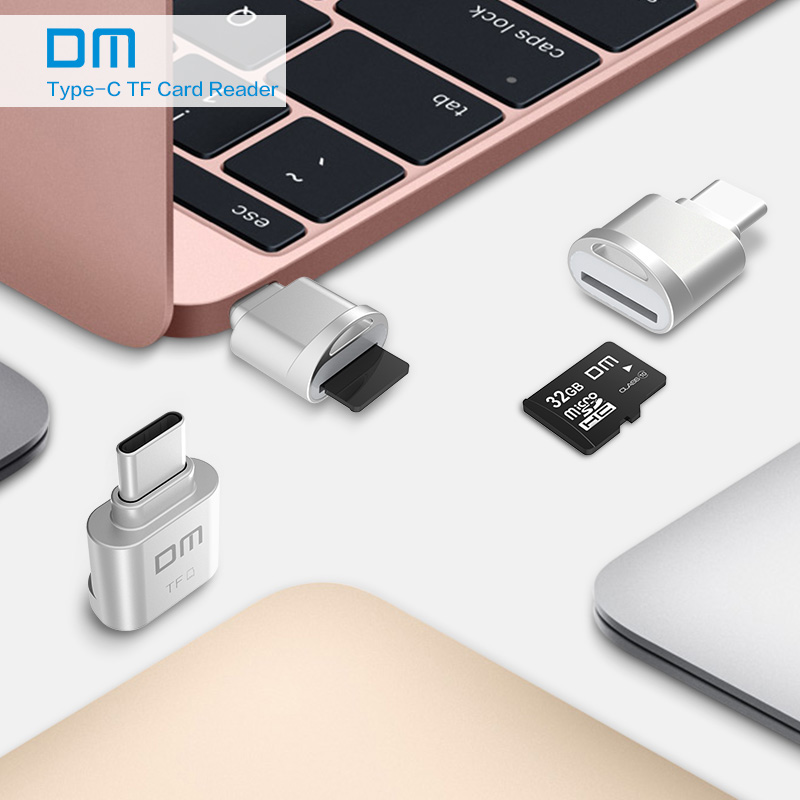 DM Mini Type C usb3 1 Micro SD TF Memory card reader for Macbook or smartphone