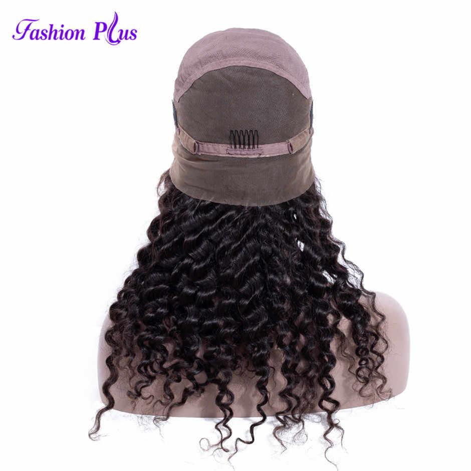 De moda más 180% de densidad peluca llena de encaje Pre arrancado con el pelo del bebé de la onda profunda Remy brasileño de cabello humano de encaje completo pelucas para mujeres