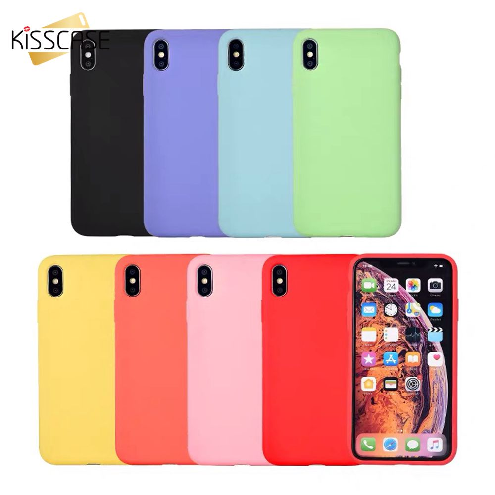 KISSCASE Newest Silicone Washable Phone Case For iPhone X 7 8 6 6S Plus 5 5S SE XS MAX XR Bag