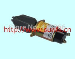 Replace of Engine Shutdown Shutoff Stop Solenoid Valve 1504-12A6U1B1S2 12V 3924450 2001es 12 fuel shutdown solenoid valve for cummins hitachi