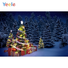 Yeele Christmas Photocall Pine Decor Light Gifts Photography Backdrops Personalized Photographic Backgrounds For Photo Studio