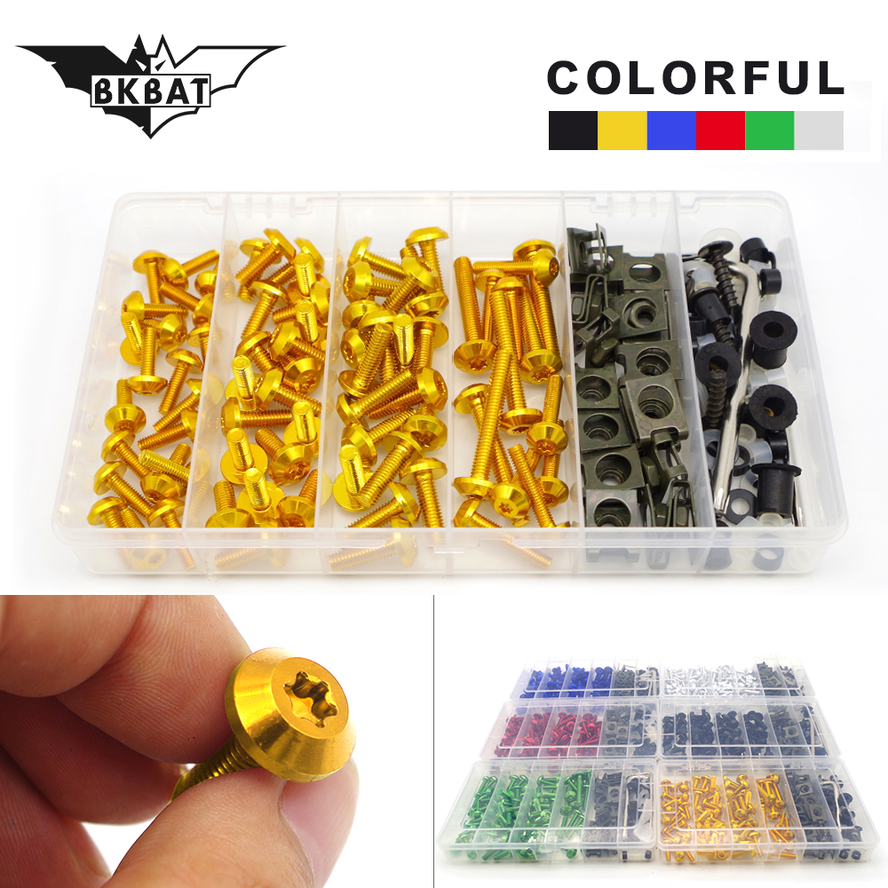 For Motorcycle Accessories Fairing Bolt Screw Fastener Fixation For suzuki hayabusa m109r msx 125 aprilia xj6 honda cbr 600 rr