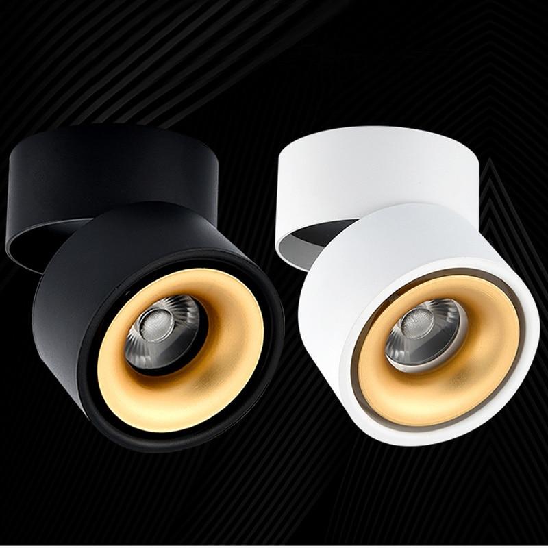 Livraison Gratuite 220 V LED Downlight Surface Monté COB Downlight 5 W 7 W 9 W 12 W LED Lumière