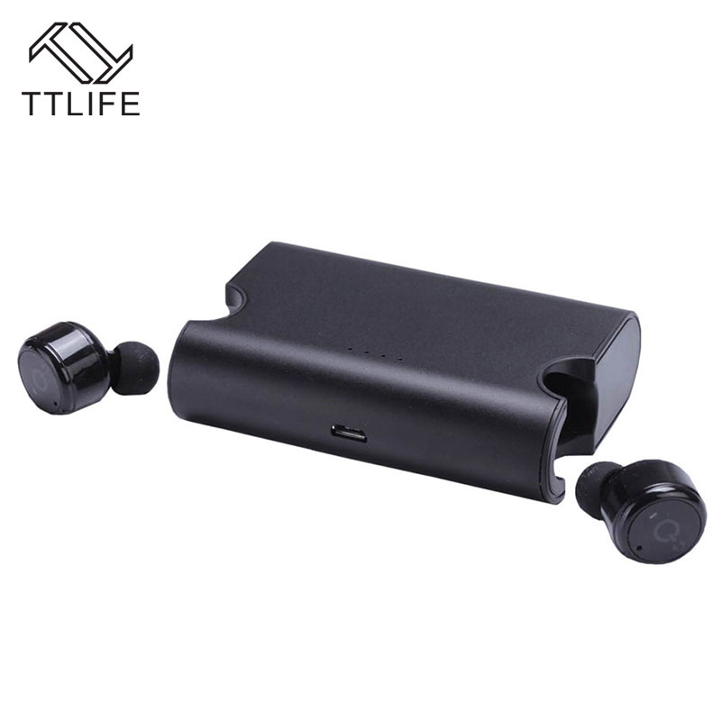 TTLIFE X2T TWS Bluetooth 4.2 Airpods Headphone Wireless Sports Stereo Music Earphone with Charging Socket for iPhone 7 Xiaomi 2017 ttlife mini wireless earphone bluetooth headsets airpods with mic 2 in 1 with car charger for iphone 7 xiaomi mobile phones
