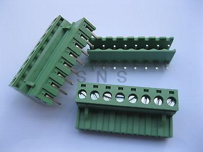 120 pcs 5.08mm Angle 8 pin Screw Terminal Block Connector Pluggable Type Green 3 pin curved screw terminal block connectors green 20 piece pack