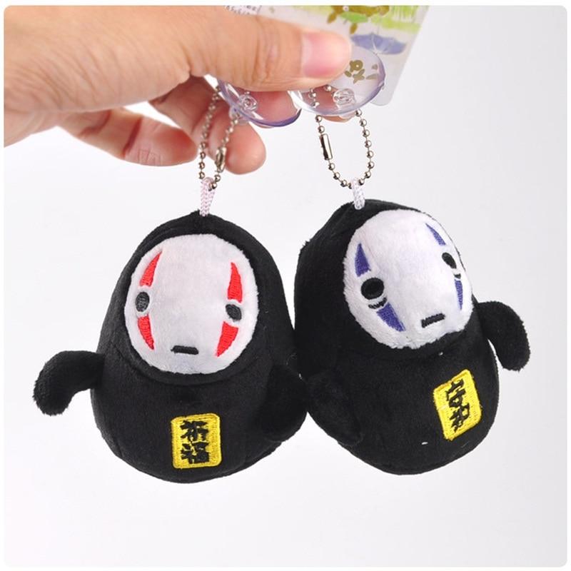 1pcs Style Random 10cm No Face Man Small Pendant Soft Stuffed Dolls Japanese Anime T Key Chains Birthday Gift