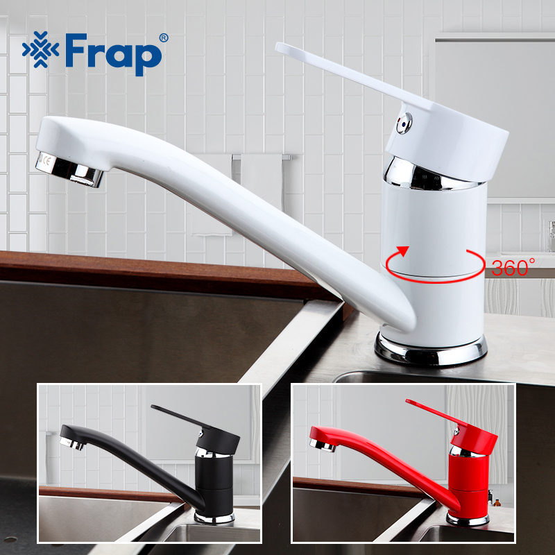 FRAP Multi-color Modern Kitchen Sink Faucet Mixer Cold And Hot Tap Single Hole Water Tap Rotate 360 Degrees F4542 F4541 F4543