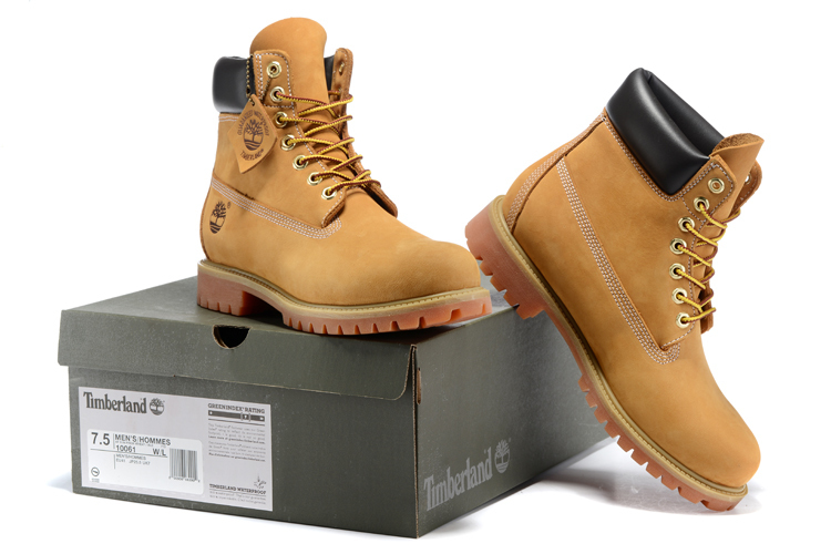 TIMBERLAND Classic Women's 6-Inch Premium Waterproof 10061 Boots,Woman Female Nubuck Genuine Leather Ankle Wheat Yellow Shoes  5