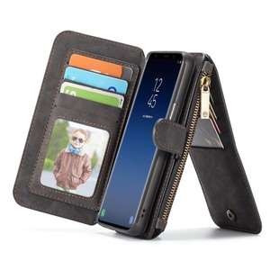 Image 4 - For Galaxy S9 Plus Wallet Case Detachable Folio Magnetic Leather Cover Case for Samsung Galaxy Note 20 S20 S10 Note 10 Plus S8
