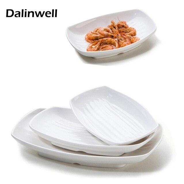 Koreanische Geschirr Weiß A5 Melamin Gerichte Platten Mode ...