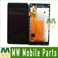 Black Color 1PC /Lot LCD Display +Touch Screen With Frame For Sony Xperia J ST26 ST26i