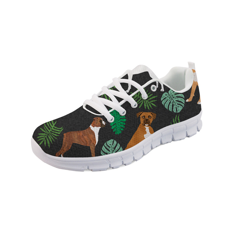 Jeunes Automne Classique Filles Elviswords yq1787aq yq1789aq Vulcaniser Boxer Chaussures Impression Yq1786ak Plat yq1790aq Sneakers Femmes Appartements Lace Up Chien forme Noir yq1791aq Plate 8qgw0Tqxa