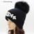GZHilovingL 2016 Nuevo Diseño Otoño Invierno Para Mujer Elegante Diamante Gorros Sombreros Gorros Con Pompón De Piel Cálida Lana Suave Gorros Gorras