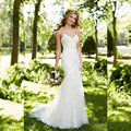 Spaghetti Strap Sheath Lace Tulle Wedding Dress with Real Photo Made to Order Romantic light Easy Take Bridal Gown