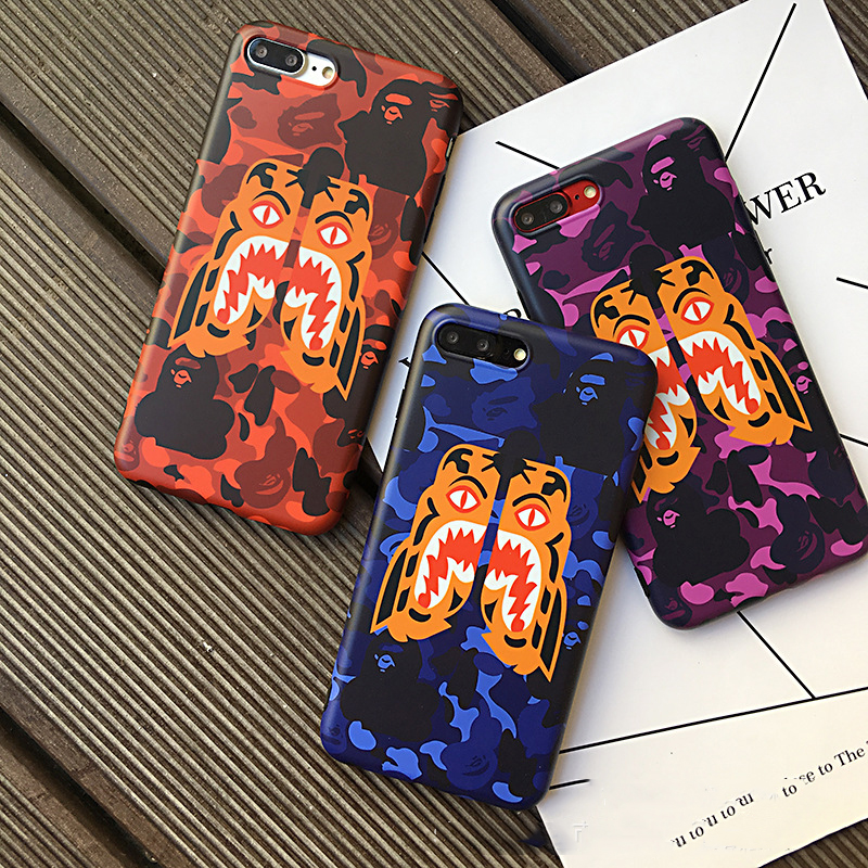 Fashion Cool Shark Mouth ape man Design Phone Cover For iPhone 6 s 7 Plus 8 Plus X Phone case Soft silicon Fundas Coque