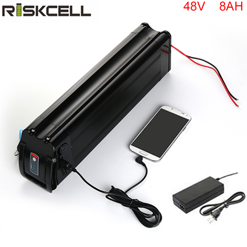 Newest fish model 18650 cell fit for 48v 1000w motor kit scooter battery 48v 8ah li ion battery pack with usb battery charger liitokala for samsung 18650 3500mah 13a discharge inr18650 35e inr18650 35e 18650 battery li ion 3 7v rechargable battery