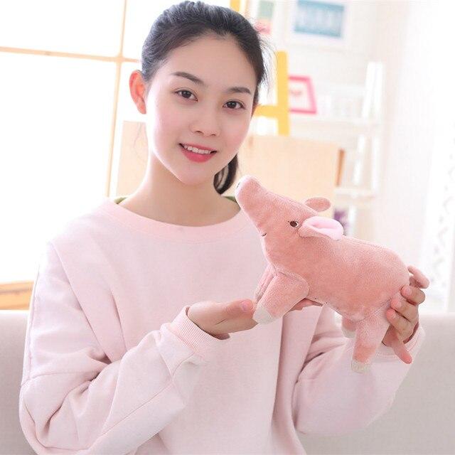 Bichos de pelúcia Kawaii 25 cm Porco Bonito Ty Pequeno Travesseiro Brinquedos de Pelúcia Macia Para Crianças Rosa Claro Mini Brinquedos Para girlSofa Travesseiro do bebê