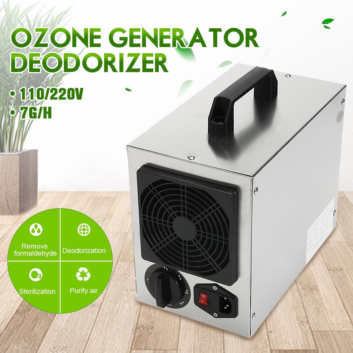 Accueil Générateur D'ozone Commerciale 7 g/h O3 Purificateur D'air Désodorisant 220 v/110 Filtre À Air Pour L'hôpital Usine Accueil plug UA