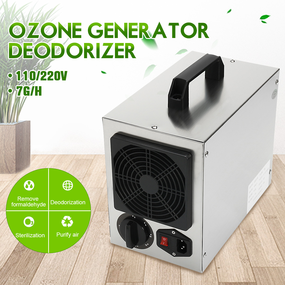 Maison Générateur D'ozone Commercial 7 g/h O3 Purificateur D'air Désodorisant 220 v/110 Filtre à Air Pour L'hôpital À La Maison D'usine prise AU